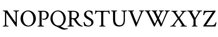 Crimson Text Font UPPERCASE
