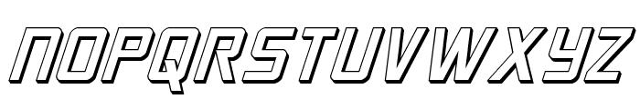 Crixus 3D Italic Font UPPERCASE