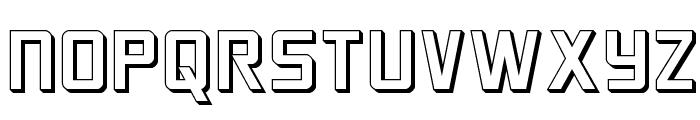 Crixus 3D Font UPPERCASE