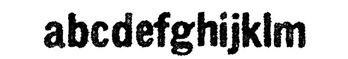 CrnagorszkijBuddahOrkesztar Font LOWERCASE