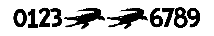 Crocodile Feet DEMO Regular Font OTHER CHARS