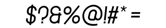 Cronus Italic Font OTHER CHARS