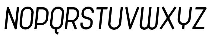 Cronus Italic Font UPPERCASE