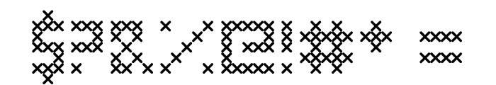 Cross Stitched Font OTHER CHARS