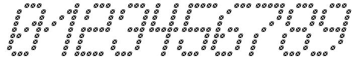 Cross led tfb Italic Font OTHER CHARS