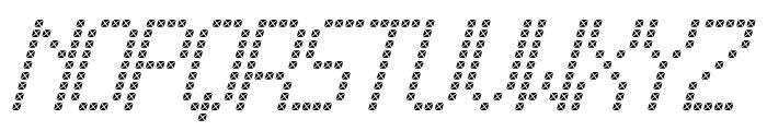 Cross led tfb Italic Font LOWERCASE