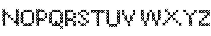 CrossSew Regular Font UPPERCASE