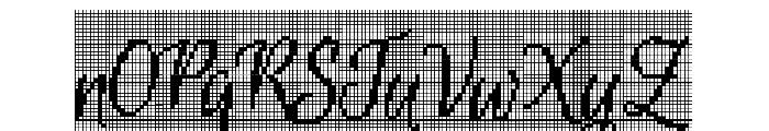 CrossStitchScriptPersonal Use Font UPPERCASE