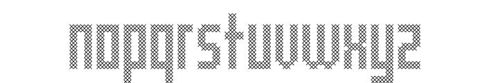 Cross Font LOWERCASE