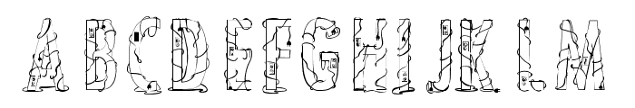 CrossedWires-Condensed Font UPPERCASE