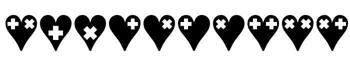 Crosses n Hearts Font OTHER CHARS