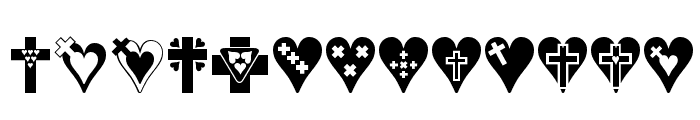 Crosses n Hearts Font UPPERCASE