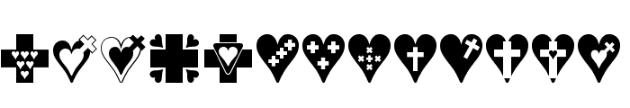 Crosses n Hearts Font LOWERCASE