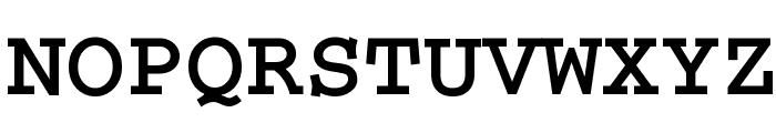 CrrCTT Bold Font UPPERCASE