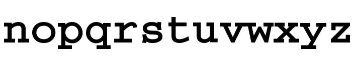 CrrCTT Bold Font LOWERCASE