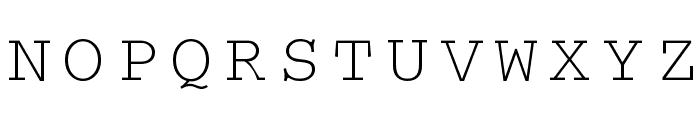 CrrCTT Font UPPERCASE