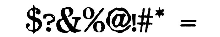 Crud Regular Font OTHER CHARS