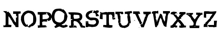 Crud Regular Font UPPERCASE