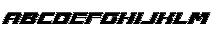 Cruiser Fortress Bevel Italic Font LOWERCASE