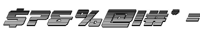Cruiser Fortress Chrome Italic Font OTHER CHARS