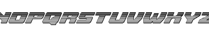 Cruiser Fortress Chrome Italic Font UPPERCASE