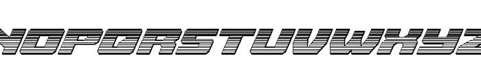 Cruiser Fortress Chrome Italic Font LOWERCASE