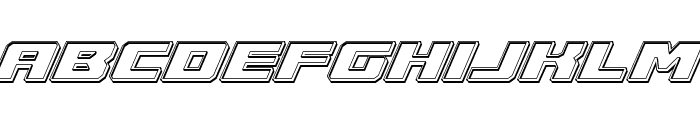 Cruiser Fortress Engraved Italic Font LOWERCASE