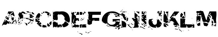 CrunchyFaxPhont Font UPPERCASE