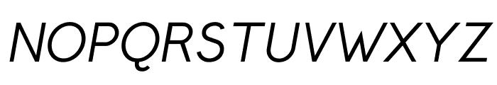 Crusoe Text Italic Font UPPERCASE