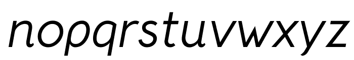 Crusoe Text Italic Font LOWERCASE