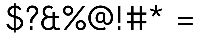 Crusoe Text Regular Font OTHER CHARS