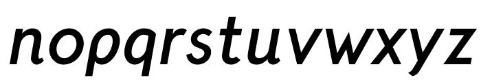 CrusoeText-BoldItalic Font LOWERCASE