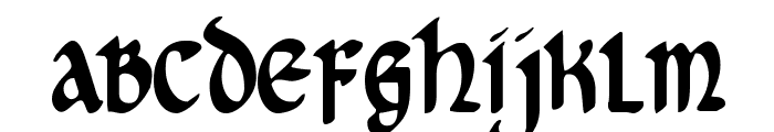 Cry Uncial Condensed Font LOWERCASE