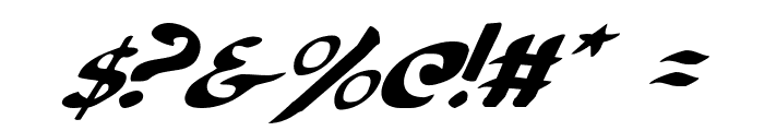 Cry Uncial Italic Font OTHER CHARS
