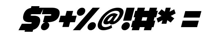 Cryogenix Italic Font OTHER CHARS