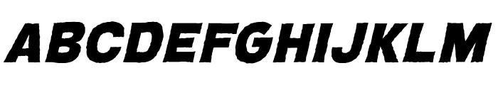 CryptCreep Heavy BB Italic Font LOWERCASE
