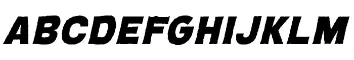 CryptCreepHeavyBB-Italic Font LOWERCASE