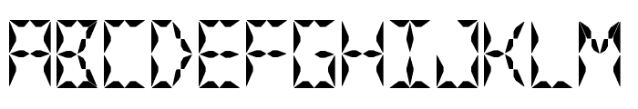 Crystal Watch Font UPPERCASE