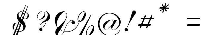 Crystal symphony Personal use Regular Font OTHER CHARS