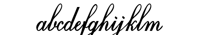 Crystal symphony Personal use Regular Font LOWERCASE