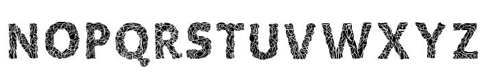 Crystalline Negative Font UPPERCASE