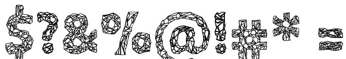 Crystalline Outline Font OTHER CHARS