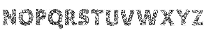 Crystalline Outline Font UPPERCASE