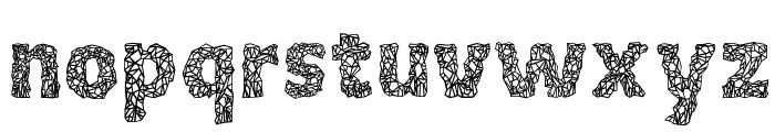 Crystalline Outline Font LOWERCASE