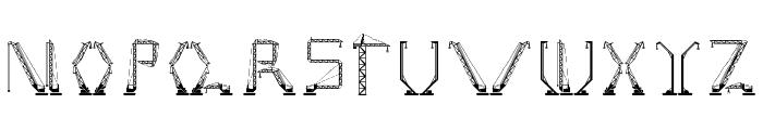 cranestruct Regular Font UPPERCASE