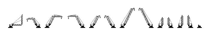 cranestruct Regular Font LOWERCASE