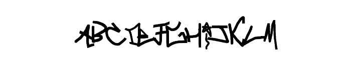crazy Writerz Font UPPERCASE