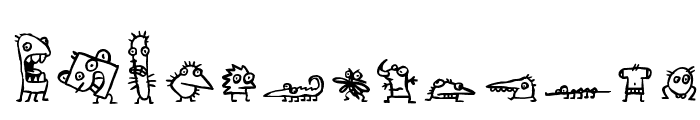 creatures Font LOWERCASE