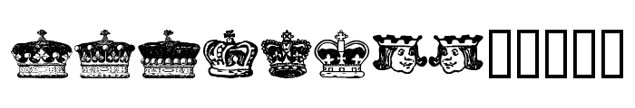 crowns and coronets Font LOWERCASE