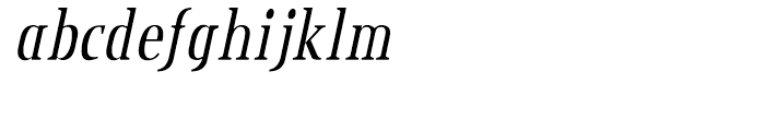 Credit Valley Italic Font LOWERCASE